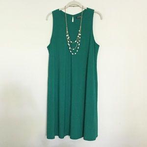 Matte jersey swing dress 16